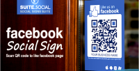 Sign social facebook like shops for events & venues