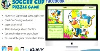 Soccer facebook application puzzle cup