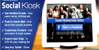 Social facebook kiosk