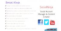 Social ninja social id creator content manager