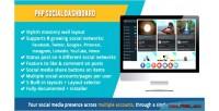 Social php dashboard