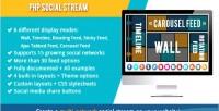 Social php stream