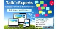 Social talktoexperts platform knowledge share to