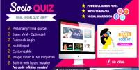 Socioquiz viral quiz website login facebook with