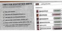 Statistics twitter suite