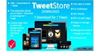 Store downloads 1 download tweet 1 for store