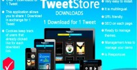 Store downloads 1 download tweet 1 for store