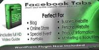 Facebook tabs php wordpress versions plugin