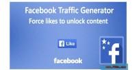 Traffic facebook generator