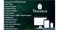 Triangle facebook twitter linkedin manager media social