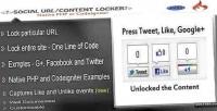 Tweet google like locker url content