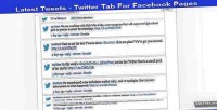 Tweets twitter tab app pages facebook for tweets