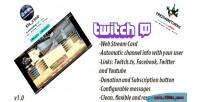 Twitch tv stream web php channel