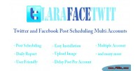Twitter & facebook post accounts multi scheduling twitter