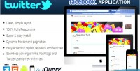 Twitter facebook responsive application