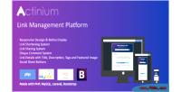Url actinium shortener platform management link