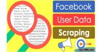 User facebook data posts from scraping