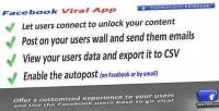 Viral facebook & app social marketing