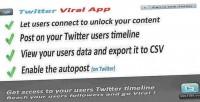 Viral twitter & app social marketing