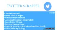 Viral twitter scrapper app