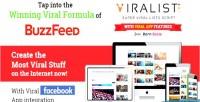 Viralist viral lists script app facebook with