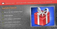 Virtual giftscript gift facebook for application