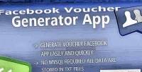 Voucher facebook generator app