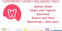 With login admin panel