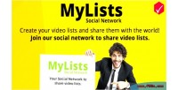 Your mylists social to network lists video share