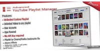 Youtube advanced playlist manager
