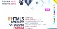 Bootstrap moonlight system forum responsive
