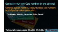Card plastic number generator