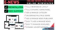 Online enews cms magazine newspaper
