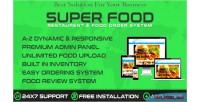 Restaurants superfood online system order food