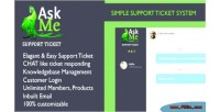 Support askme ticket chat live system