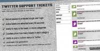 Support twitter tickets