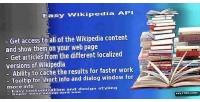 Wikipedia easy api script