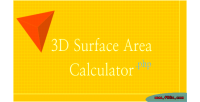 Surface 3d area calculator
