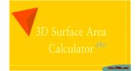 Surface 3d area calculator