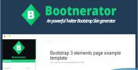 Twitter bootnerator generator skin bootstrap