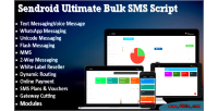 Ultimate sendroid sms whatsapp 2 way messaging voice script with res label white