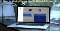 User codeigniter login design & material authentication