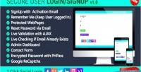 User login signup remember login social me user