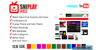 Video sniplay cms videos youtube vimeo and