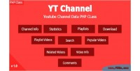 Yt channel youtube channel class php api