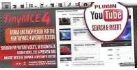 Tinymce 4 plugin youtube insert & search