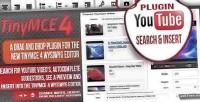 Tinymce 4 plugin youtube insert & search