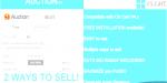 Auction bidding with auto bid robot cart cs for