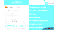 Auction bidding with auto bid robot cart cs for