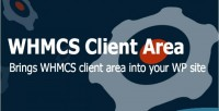 Client whmcs standalone area